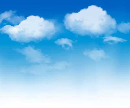 backgrounds: Blue sky with clouds