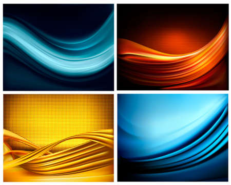 fantasy world: Set of business elegant colorful abstract backgrounds