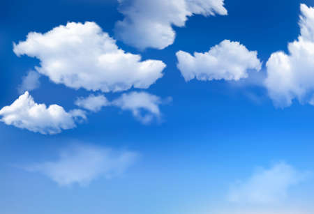 in clouds: Cielo blu con nuvole Vettoriali