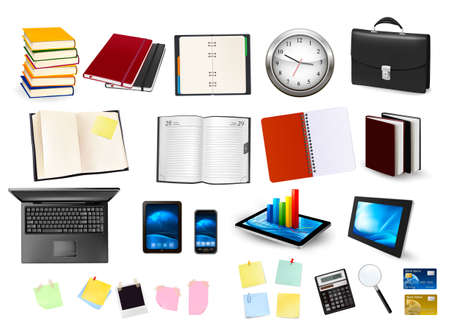 Business and office supplies Vector