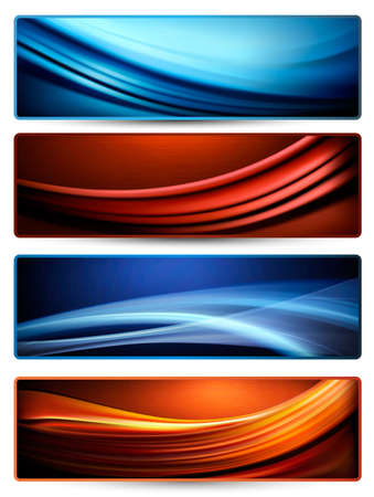 banner effect: Set of colorful abstract business banners Illustration