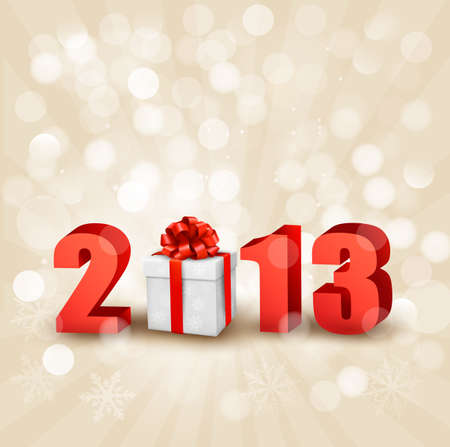 Happy new year 2013! New year design template Vector