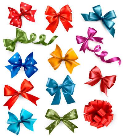 ribbons: Big set of colorful gift bows with ribbons