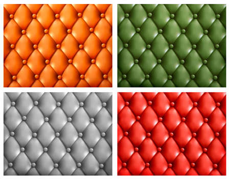 chester: Set of colorful leather backgrounds Illustration
