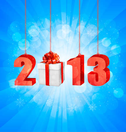 Happy new year 2013  New year design template  illustration Stock Vector - 15957222