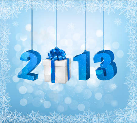 Happy new year 2013  New year design template  illustration  Vector
