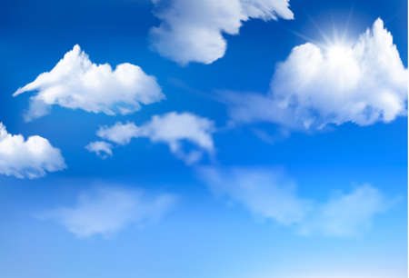 Blue sky with clouds  background  Illustration