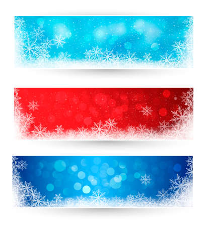 Set of winter christmas banners   illustration Stock Vector - 16104655