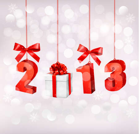 new opportunity: Happy new year 2013  New year design template  illustration