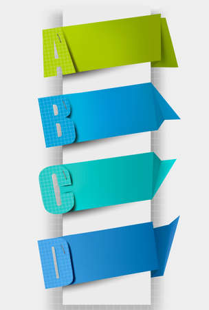 sticky tape: Colorful tags with letters.
