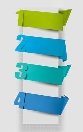 Colorful tags with numbers.  illustration. Vector