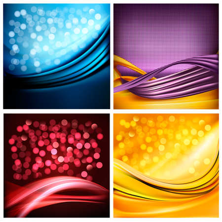 abstract backgrounds: Set of business elegant colorful abstract backgrounds.  Illustration