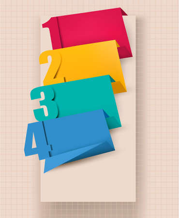 Colorful tags with numbers.
