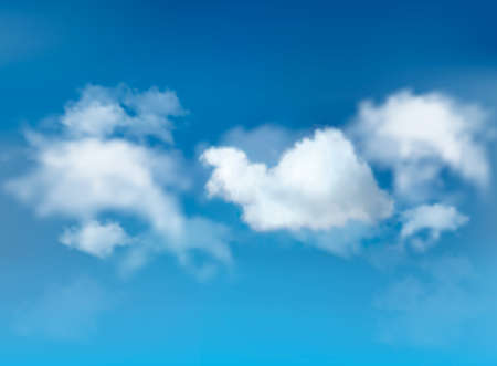 sky: Blue sky with clouds. Vector background.