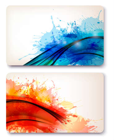 Collection of colorful abstract watercolor backgrounds Stock Vector - 17337928