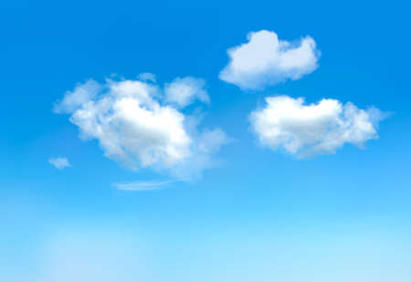 sunlight sky: Blue sky with clouds.Vector