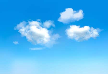 Ciel bleu avec clouds.Vector Illustration