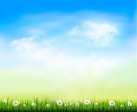 sunny sky: Nature background  illustration