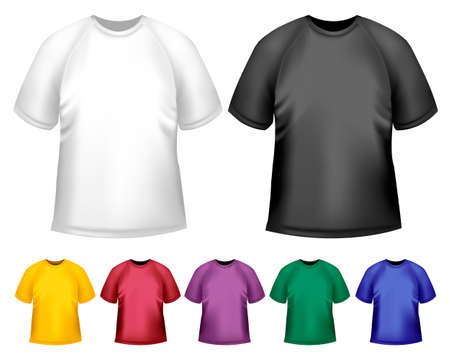 Black and white and color men polo t-shirts. Design template. Vector Stock Vector - 18959958