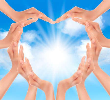 천국: 태양의 그림을 손에 들고