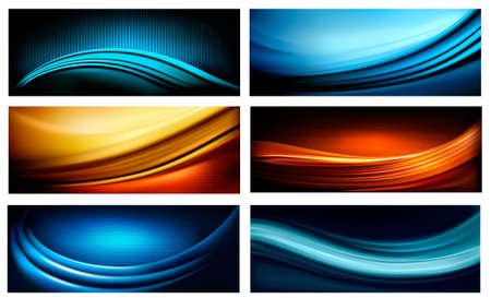 Set of business elegant colorful abstract backgrounds. Vector illustration  Stock Vector - 19902309