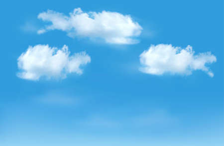 Blue sky with clouds background.  Illustration