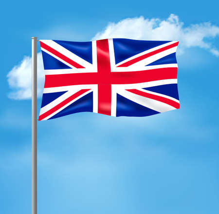 Flag of the United Kingdom on blue sky. Vector illustration  Stock Vector - 21913734