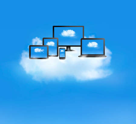 Cloud computing concept Stock Vector - 22225918