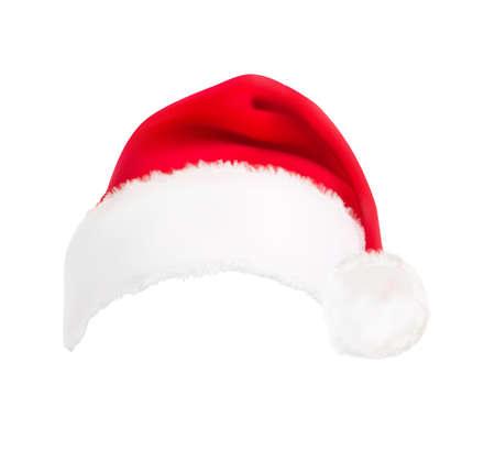 christmas hat: red santa hat. Vector.  Illustration