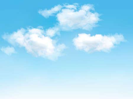 구름과 푸른 하늘입니다. 벡터 배경