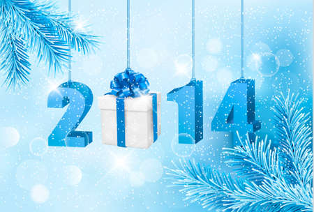 new opportunity: Happy new year 2014! New year design template. Vector illustration.