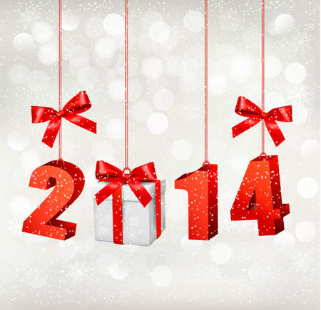 Happy new year 2014! New year design template Vector illustration  Vector