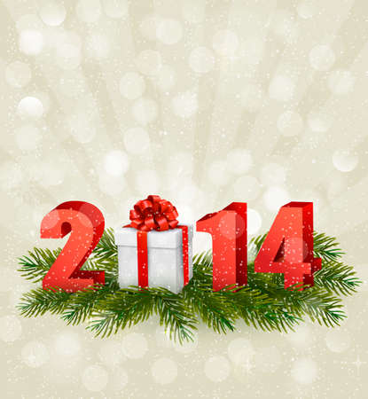 Happy new year 2014! New year design template. Vector illustration. Stock Vector - 23112137