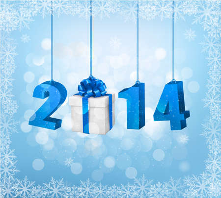Happy new year 2014! New year design template. Vector illustration. Stock Vector - 23112134