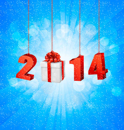 Happy new year 2014! New year design template. Vector illustration. Stock Vector - 23112135