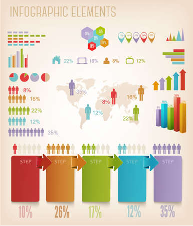 Set of Info graphics elements. Vector illustration Vector