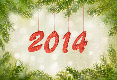Happy new year 2014! New year design template. Vector illustration. Stock Vector - 23291599