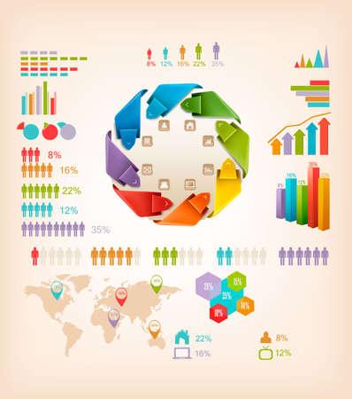 Set of Info graphics elements. Vector illustration  Illustration