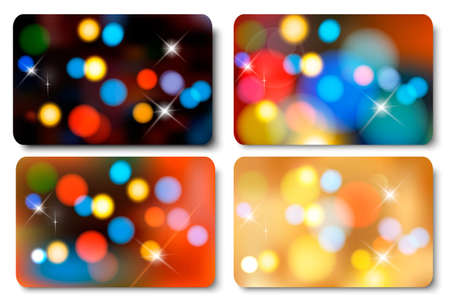company party: Set of colorful abstract gift cards. Vector illustration  Illustration