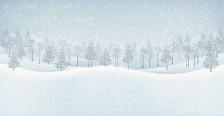 Noël paysage d'hiver Banque d'images - 24688035