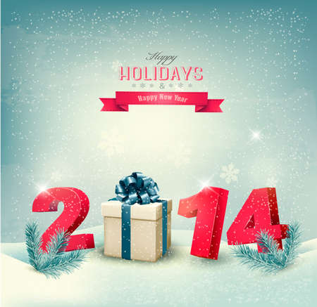 Happy new year 2014! New year design template Vector illustration Stock Vector - 24760049