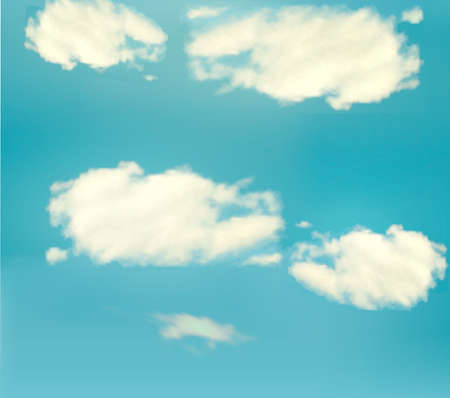 Blue sky with clouds. Vector background  Vector