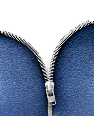 Business background with blue leather texture and open zipper. Vector illustration  Illustration