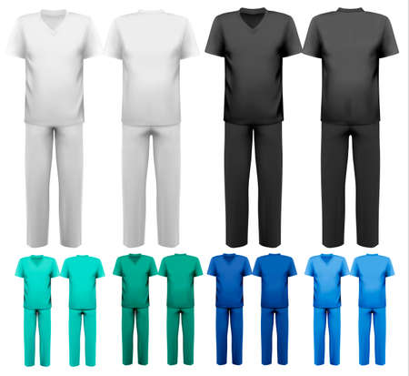durable: Sets of medical doctor clothes  Vector
