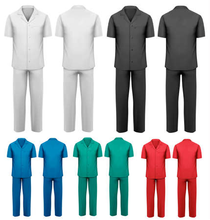 Sets of medical doctor clothes  Vector