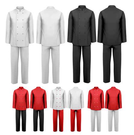 üniforma: Çeşitli iş elbiseleri seti. Vector illustration.
