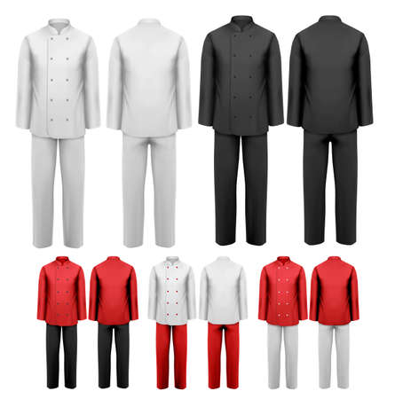 hotel staff: The set of various work clothes. Vector illustration.