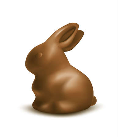 Easter chocolate bunny Vector