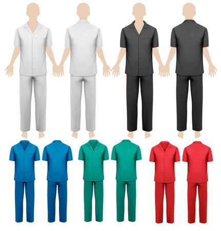 workwear: Set of work overalls  Design template  Vector illustration