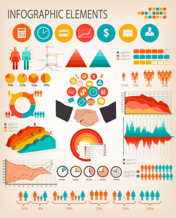 Business infographics template. Vector.  Stock Vector - 27322470